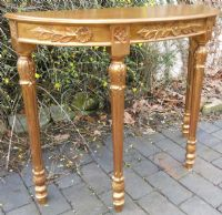 Victorian Style Gilt Console Table